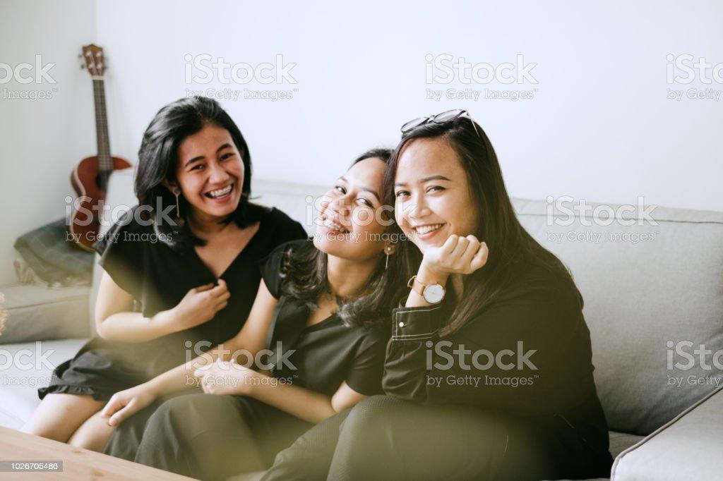 birlikte iyi vakit geçiriyor bff portresi stok fotoğrafı