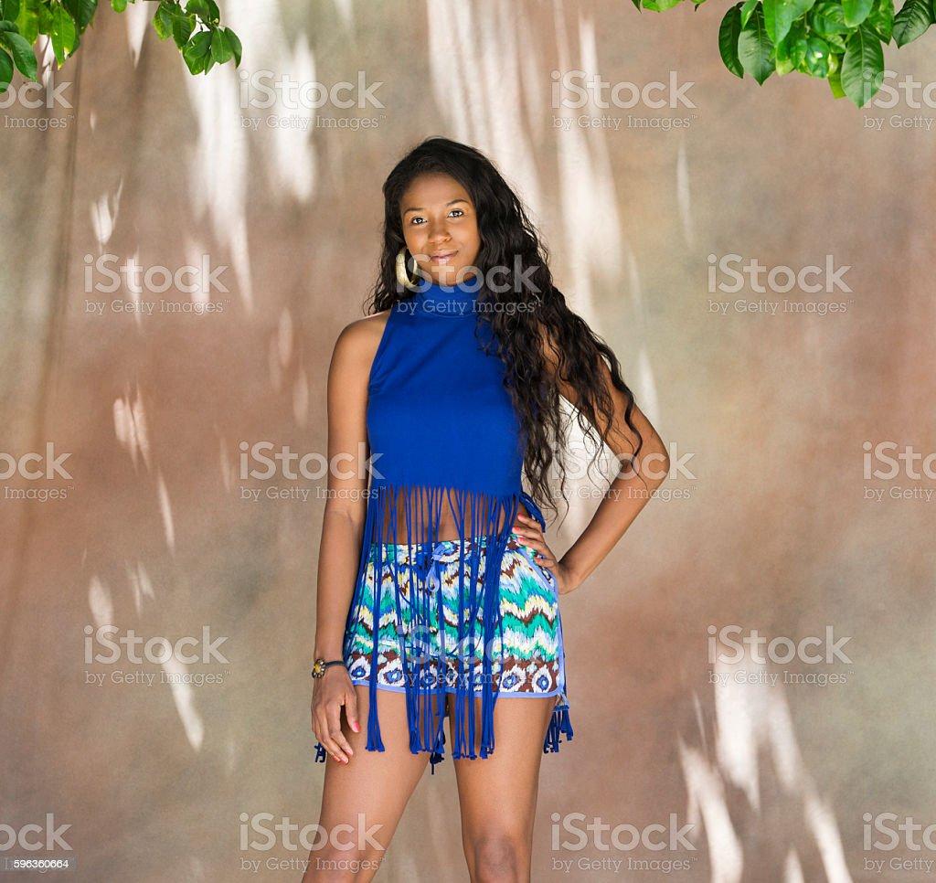 Portrait of Black Female royalty-free stock photo
