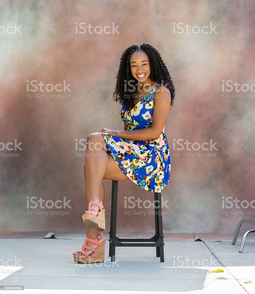 Portrait of Black Female royalty-free stock photo