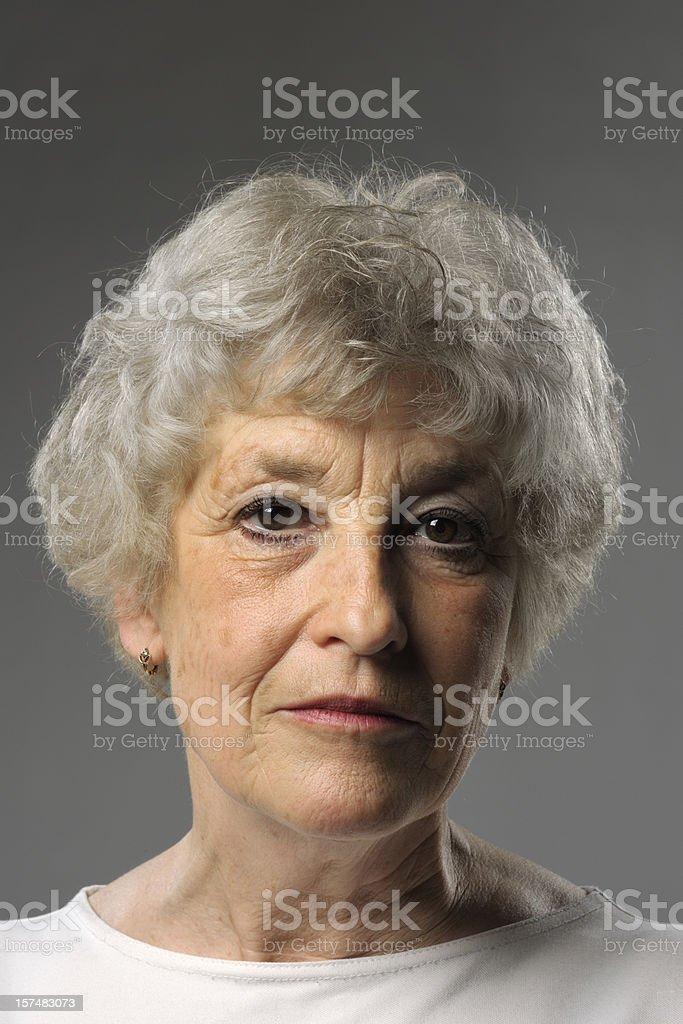 portrait of blank looking senior woman royalty-free stock photo