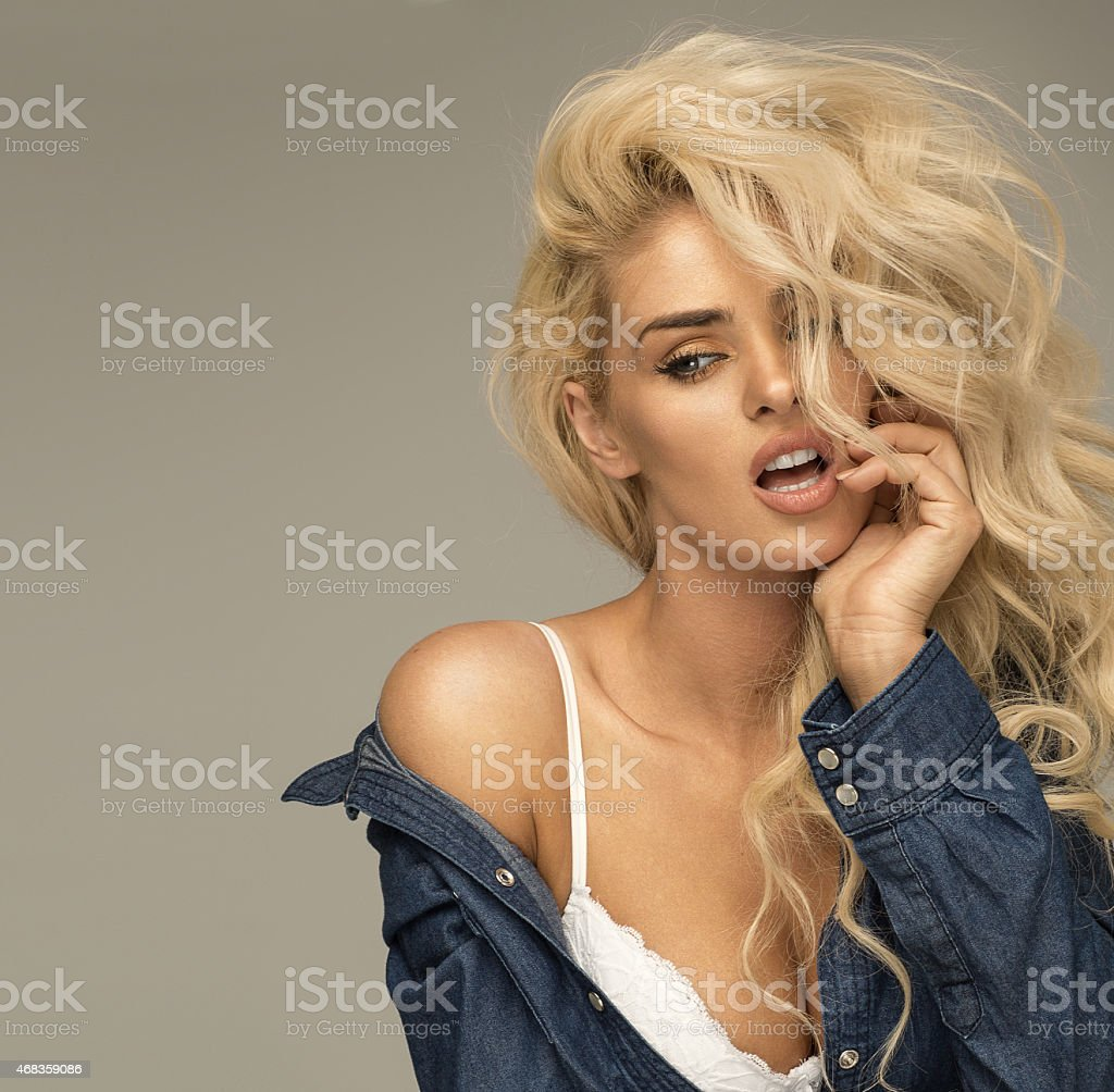 Portrait of blond woman royalty-free stock photo