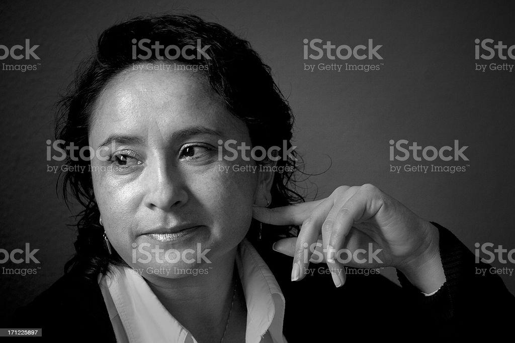 Retrato da Bolívia lady - foto de acervo