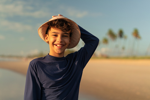 Beach, Kid, Smiling, Vacation, Tourist