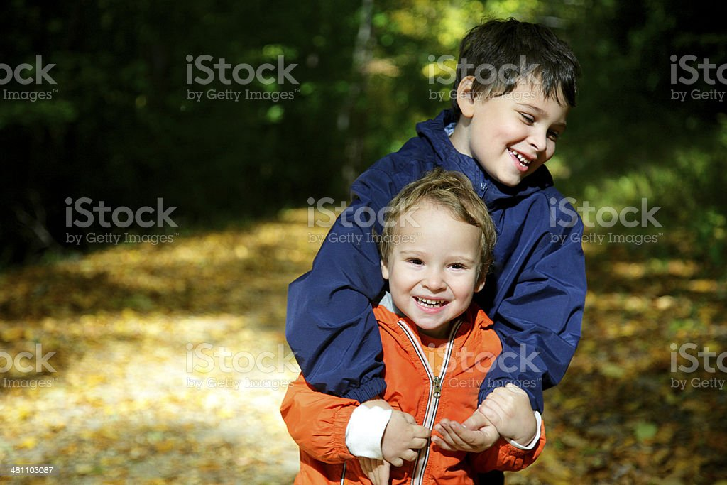 Portrait of Boys with Special Needs stock photo