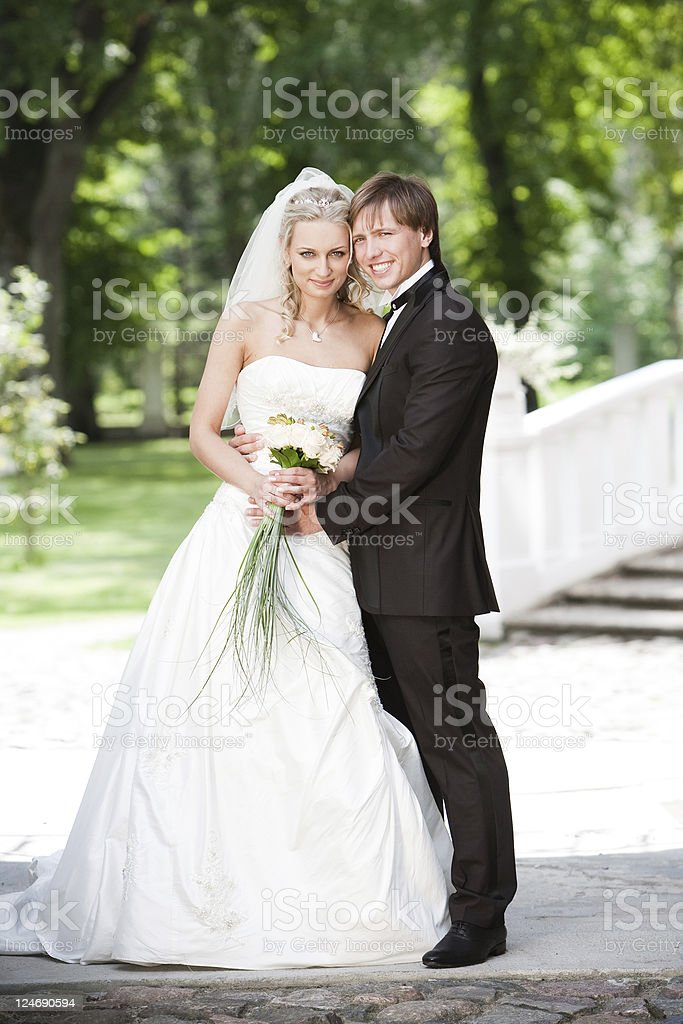Portrait of Bride and Groom royalty-free stock photo