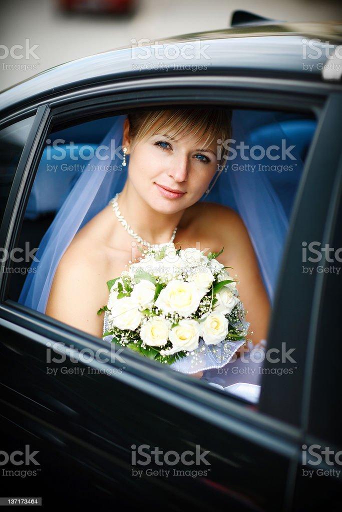 Porträt der Braut im Hochzeits – Foto