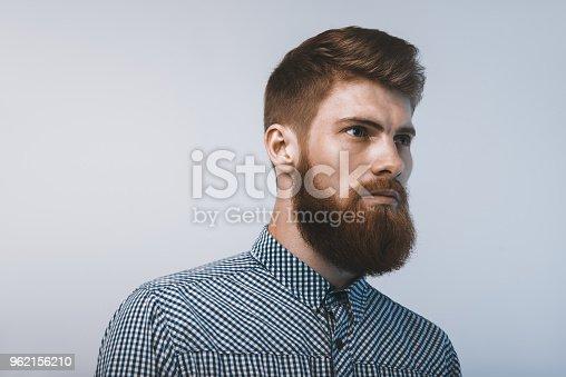 542972720 istock photo Portrait of brutal bearded man 962156210