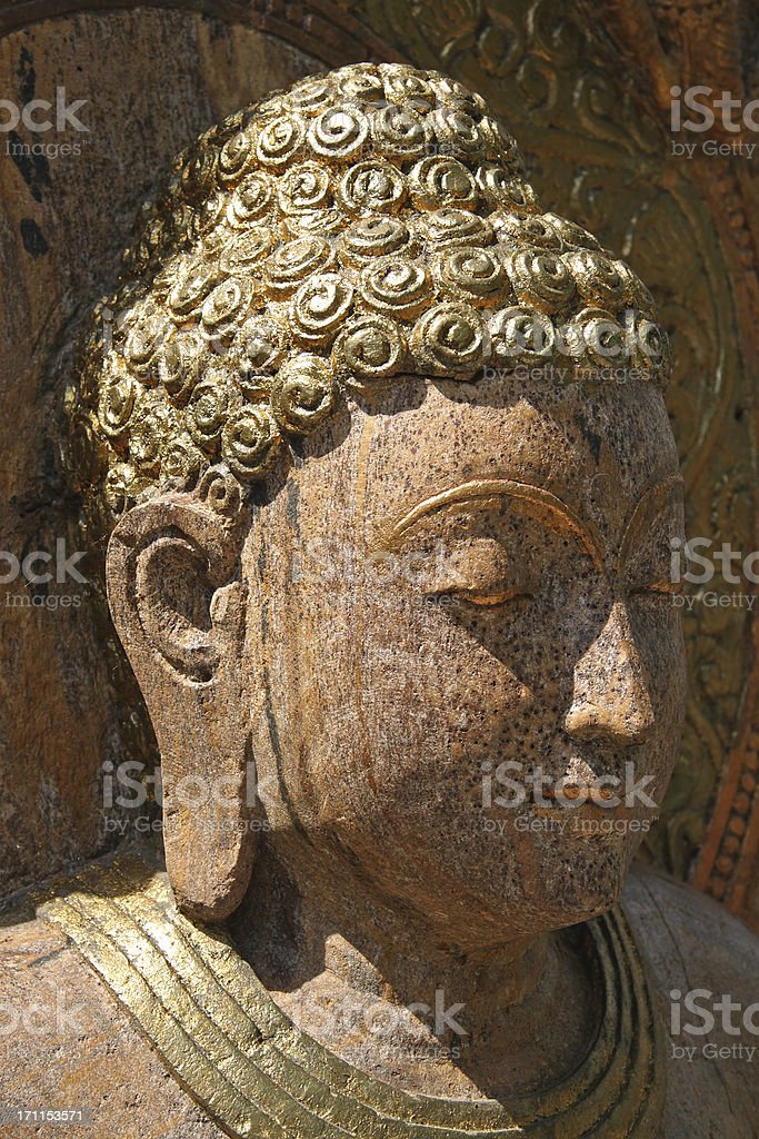 Portrait of Buddha stock photo
