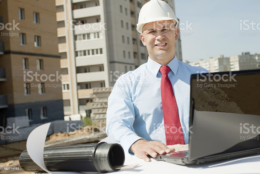 Portrait of builder royalty-free stock photo