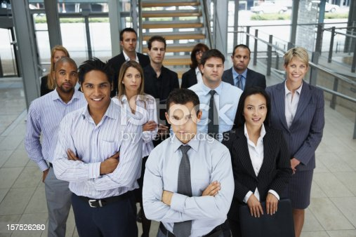 istock Portrait of business colleagues standing together 157526260