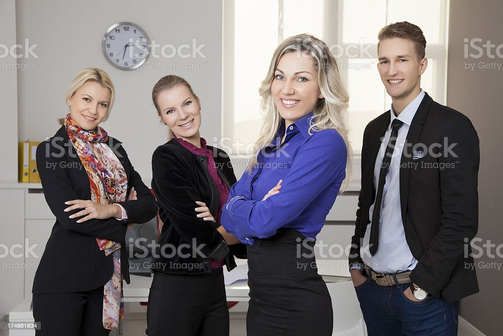 Portrait of business people standing in a group royalty-free stock photo