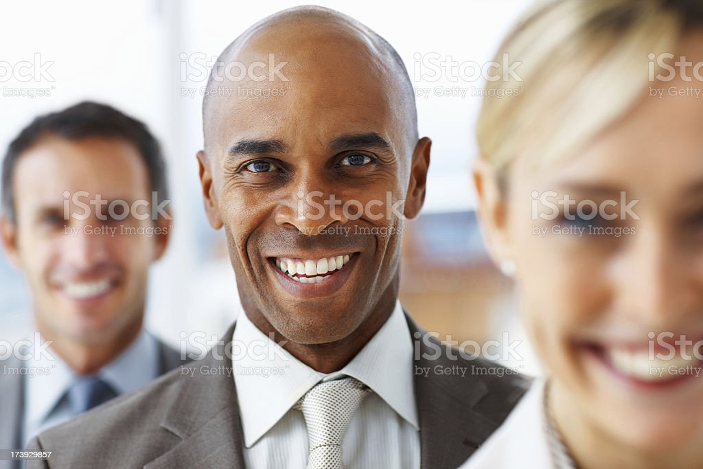 Portrait of business people standing in a row royalty-free stock photo