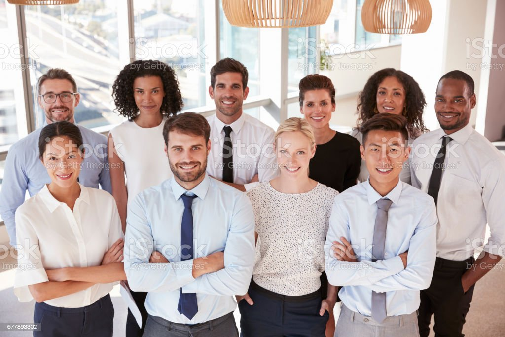 Portrait Of Business Team In Office royalty-free stock photo