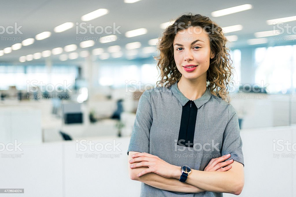 Portrait of Business Woman in modern office stock photo