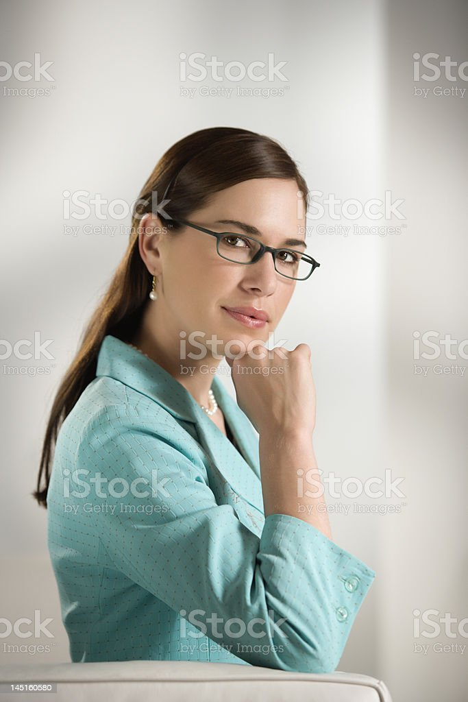 Portrait of business woman. royalty-free stock photo