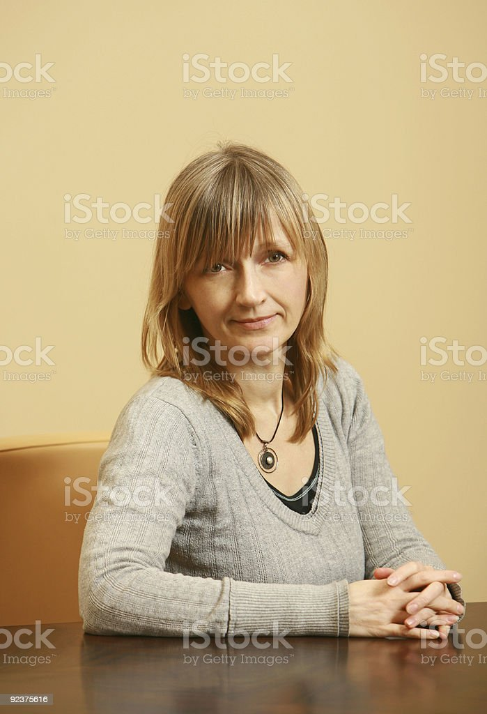 portrait of business woman royalty-free stock photo
