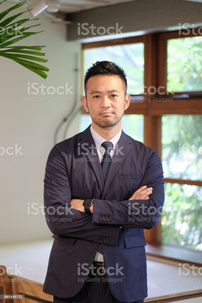 40 代のビジネスマンの肖像画 ストックフォト