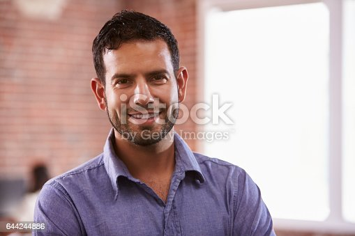 istock Portrait Of Businessman In Office Standing By Window 644244886