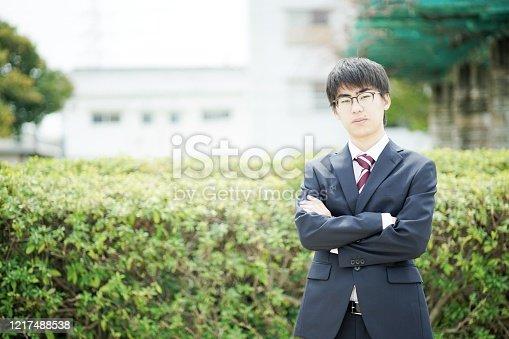 Portrait of businessman in suit,Japan