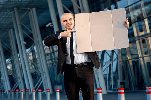 Retrato de um empresário - foto de acervo