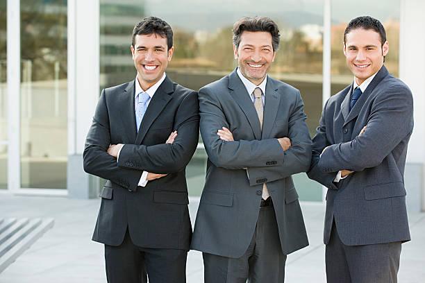 Portrait of businessmen stock photo