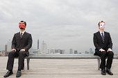 ビジネスマンマスクのポートレート