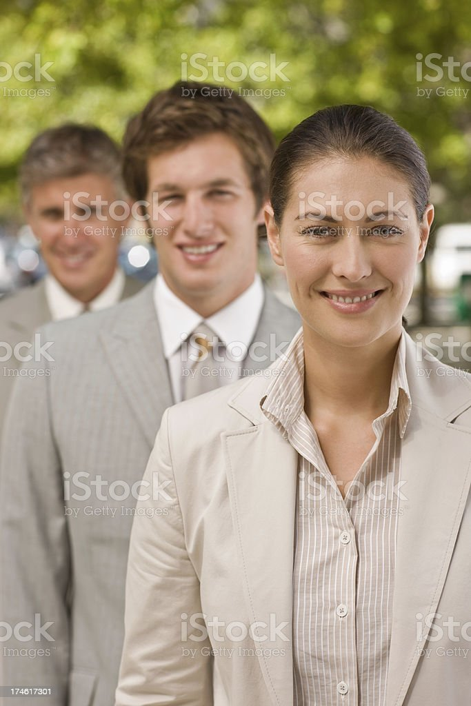 Portrait of businesspeople in a row royalty-free stock photo