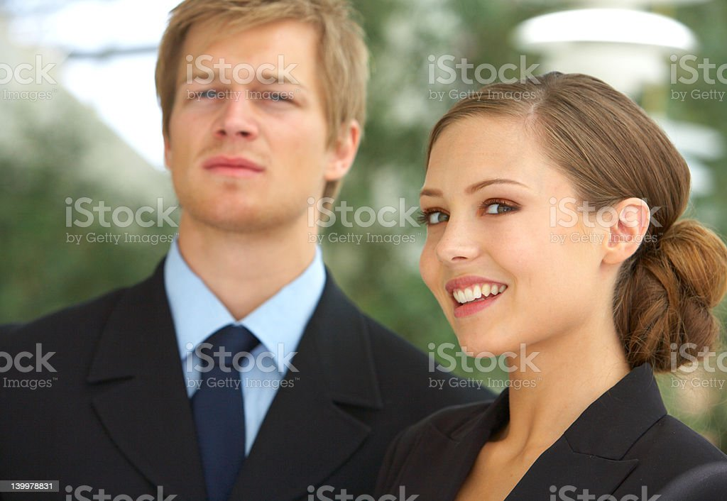 Portrait of businesspeople looking at you royalty-free stock photo