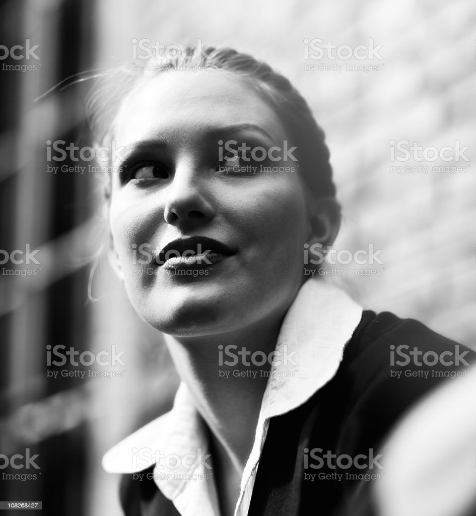 Portrait of Businesswoman Black and White royalty-free stock photo