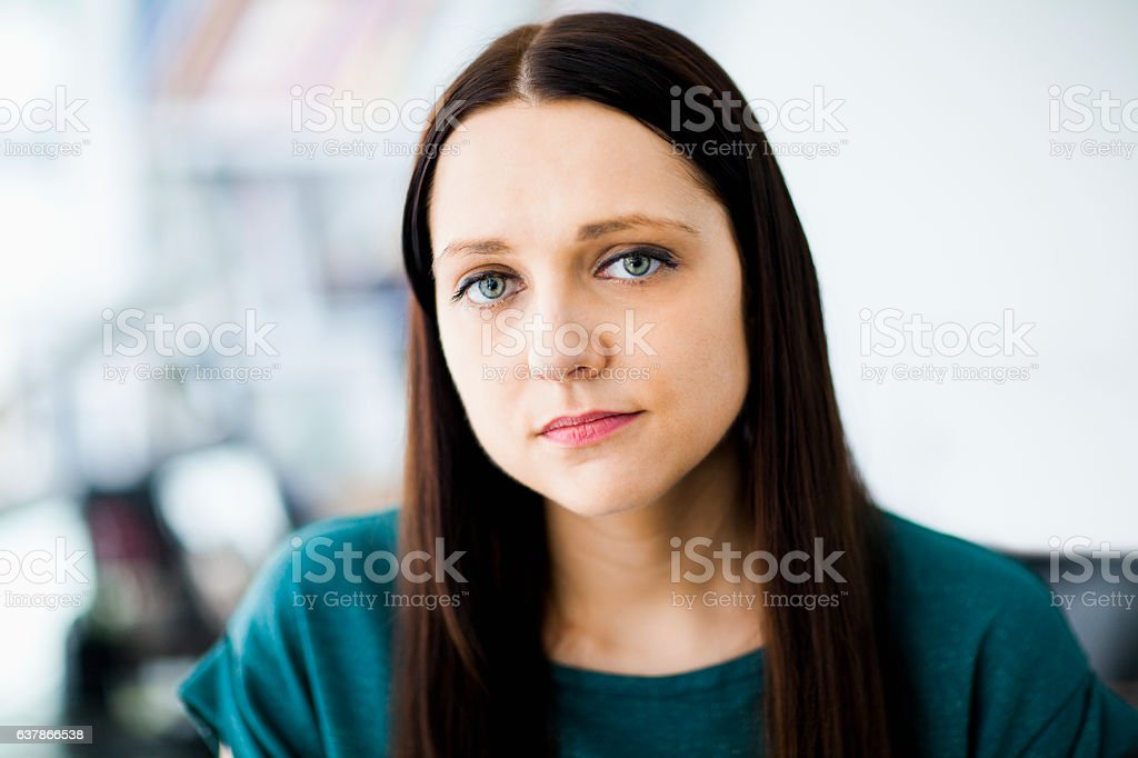 Portrait of businesswoman in office stock photo