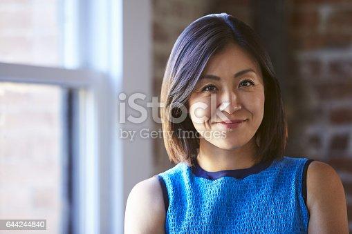 istock Portrait Of Businesswoman In Office Standing By Window 644244840