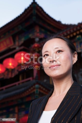 519052198 istock photo Portrait of businesswomen with Chinese architecture in background. 459502927