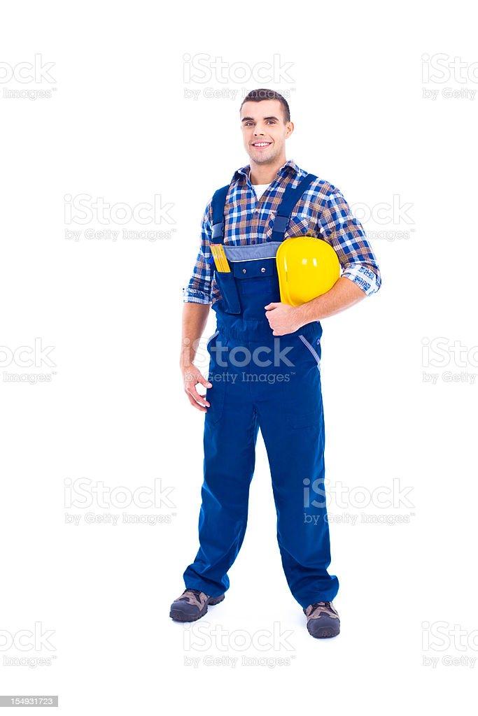 Portrait of carpenter stock photo