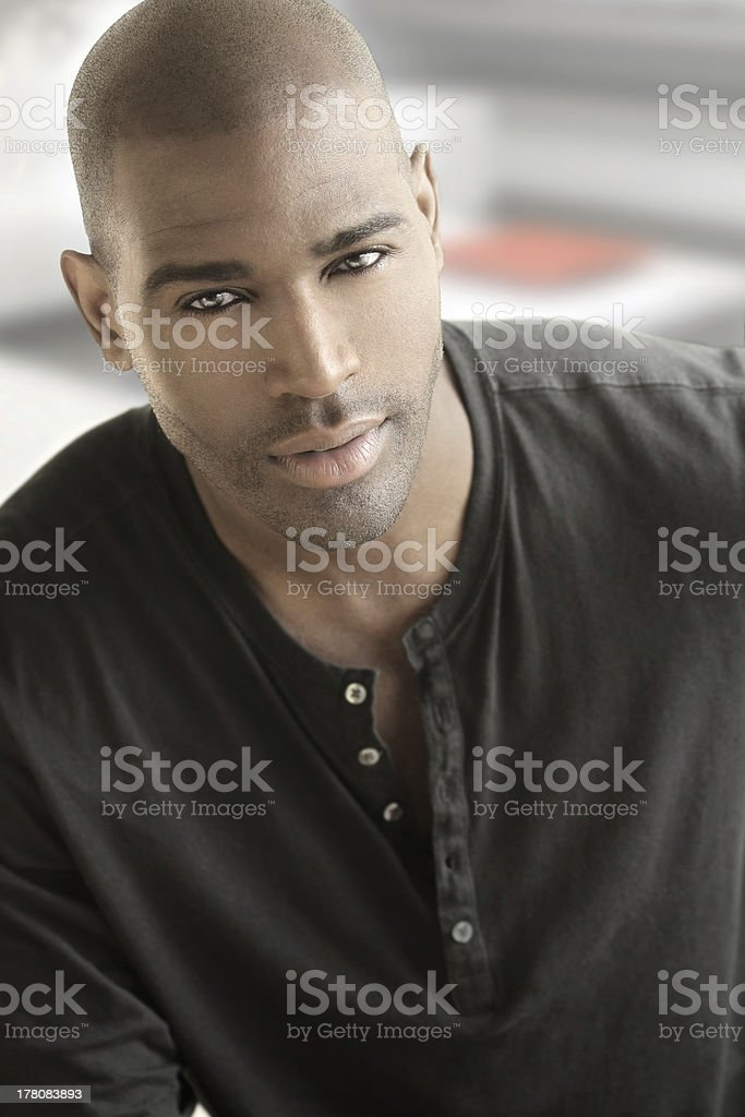 Portrait of casual man stock photo