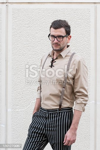 825083570 istock photo Portrait of casual smiling man 1201270087
