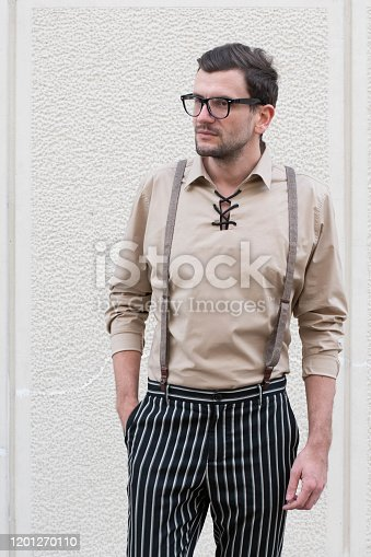 825083570 istock photo Portrait of casual smiling man 1201270110