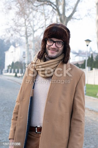825083570 istock photo Portrait of casual smiling man 1201271356
