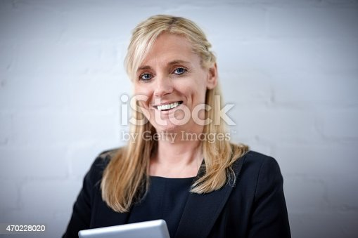 istock Portrait of charming mature businesswoman 470228020