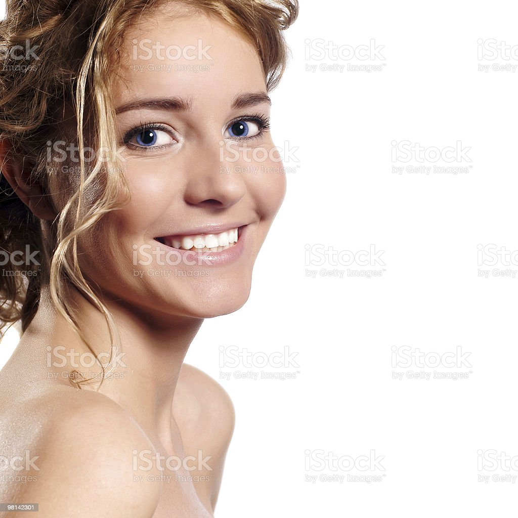 portrait of cheerful young adult girl royalty-free stock photo