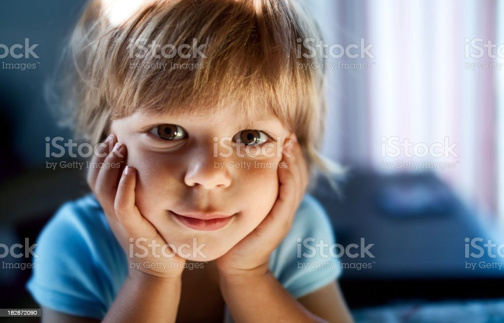 Portrait of child stock photo