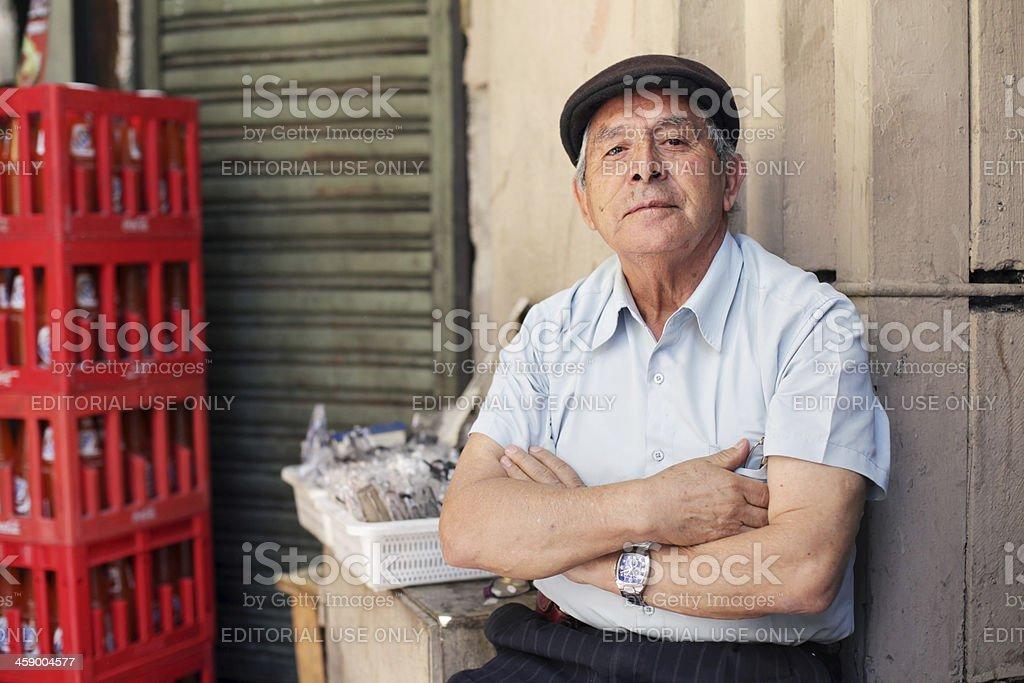 Portrait of Chilean stock photo