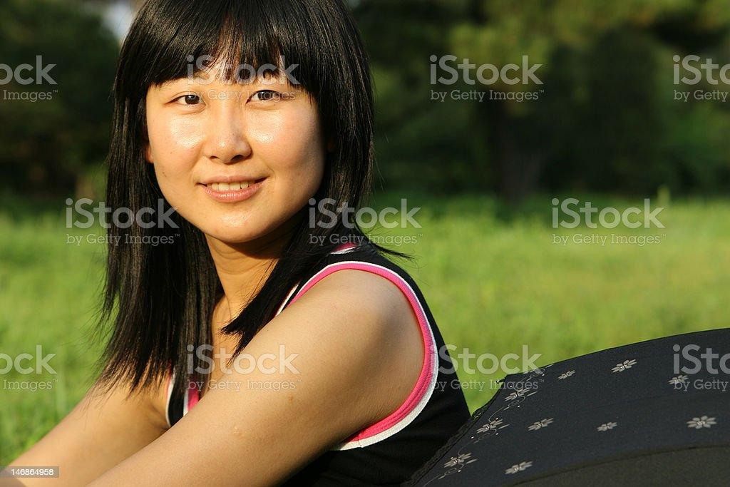 portrait of Chinese beautiful woman royalty-free stock photo