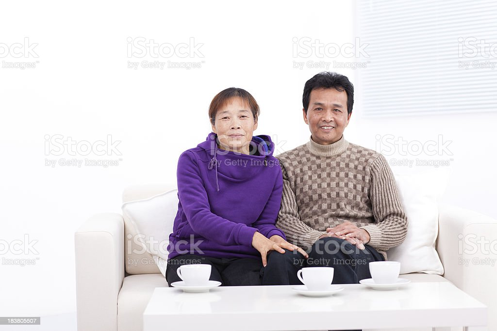 Portrait of Chinese couple royalty-free stock photo