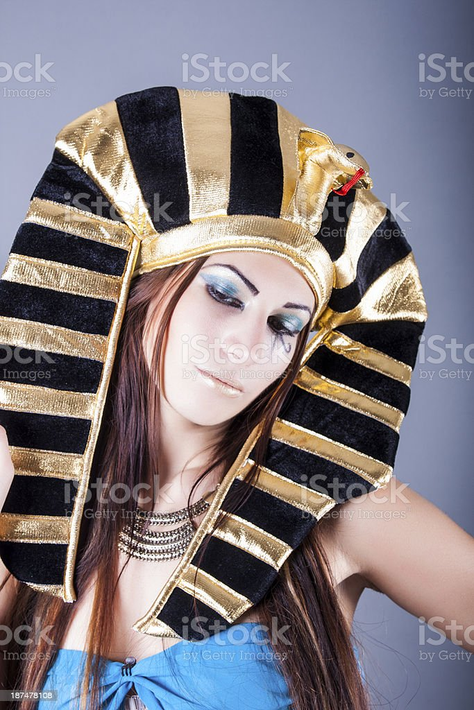 portrait of cleopatra royalty-free stock photo