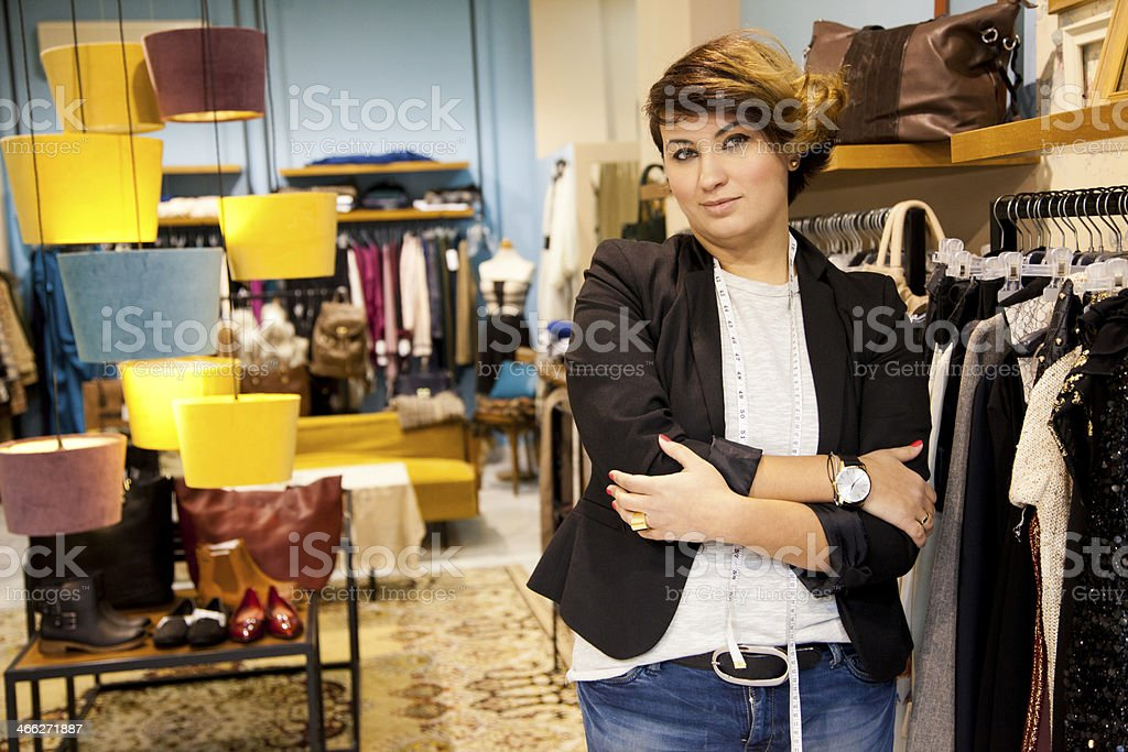 Portrait of clothing store owner royalty-free stock photo