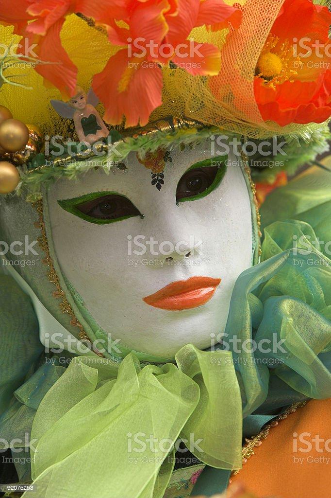 Portrait of Colorful Venetian mask (XXL) royalty-free stock photo