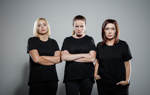 Portrait Of Confident And Determinated Women Protesting Stock Photo - Download Image Now