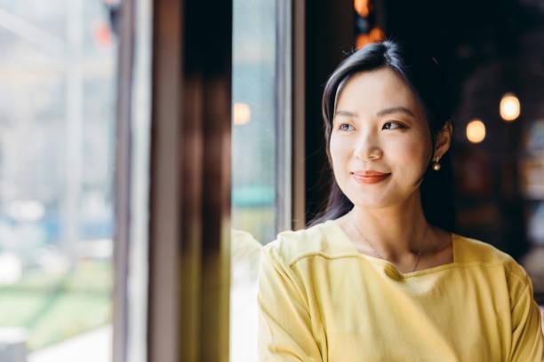 Portrait of confident Asian businesswoman. stock photo