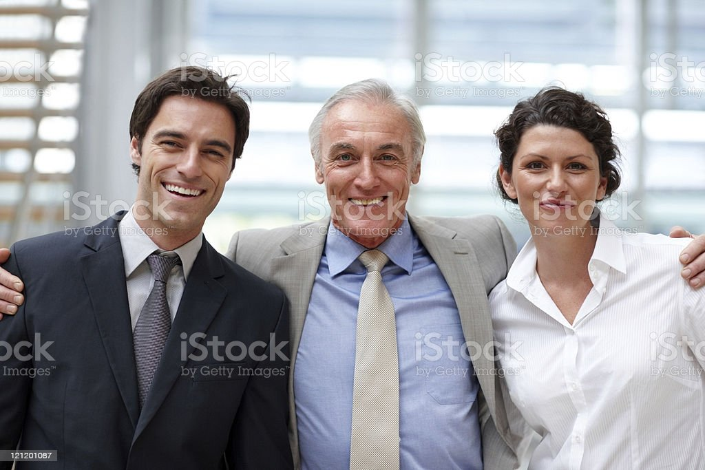 Portrait of confident business people standing together royalty-free stock photo