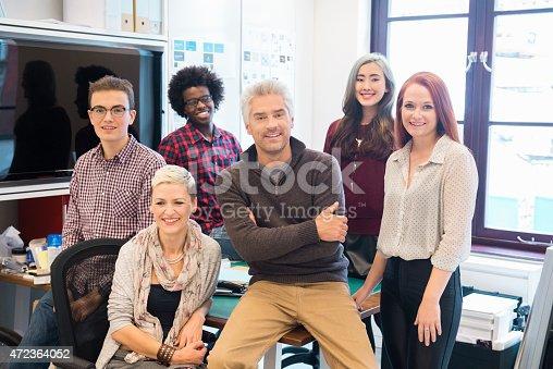 istock Portrait of confident business team 472364052
